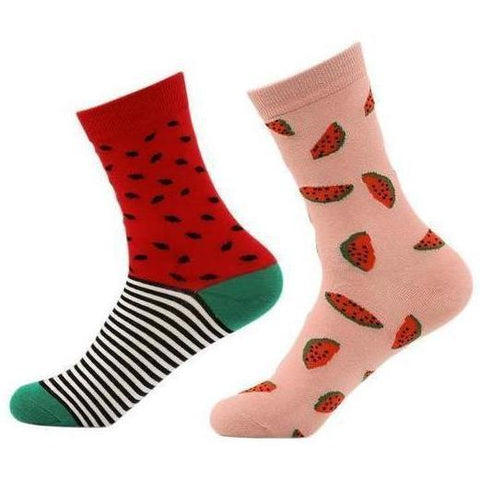 🍉 Women's Watermelon Socks, 2 Pairs-Snazzy Socks