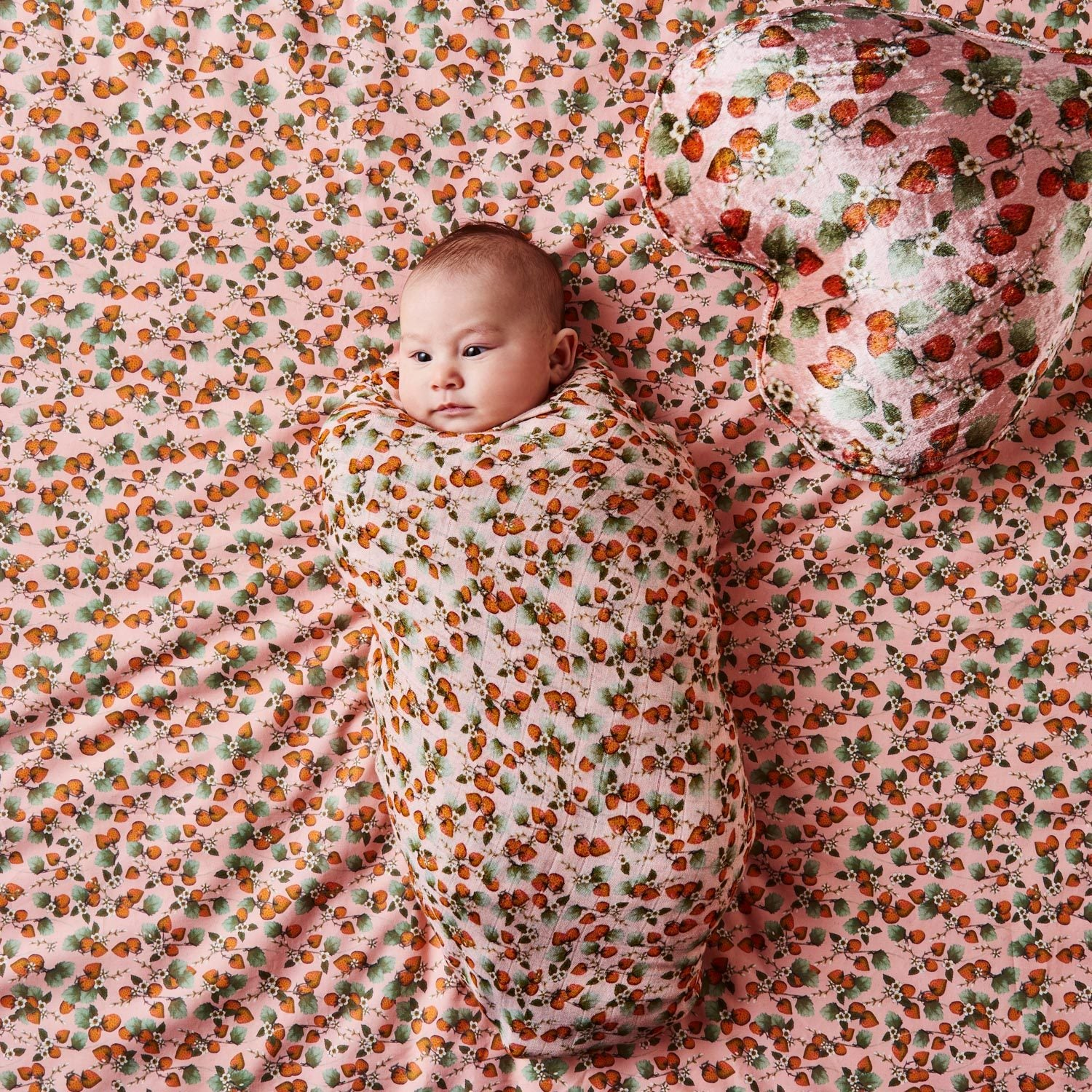 THE PATCH PEACH BAMBOO BABY SWADDLE - OS