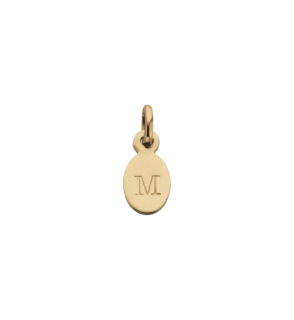 BESPOKE LETTER M OVAL INITIAL
