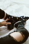 Cat Socks Navy