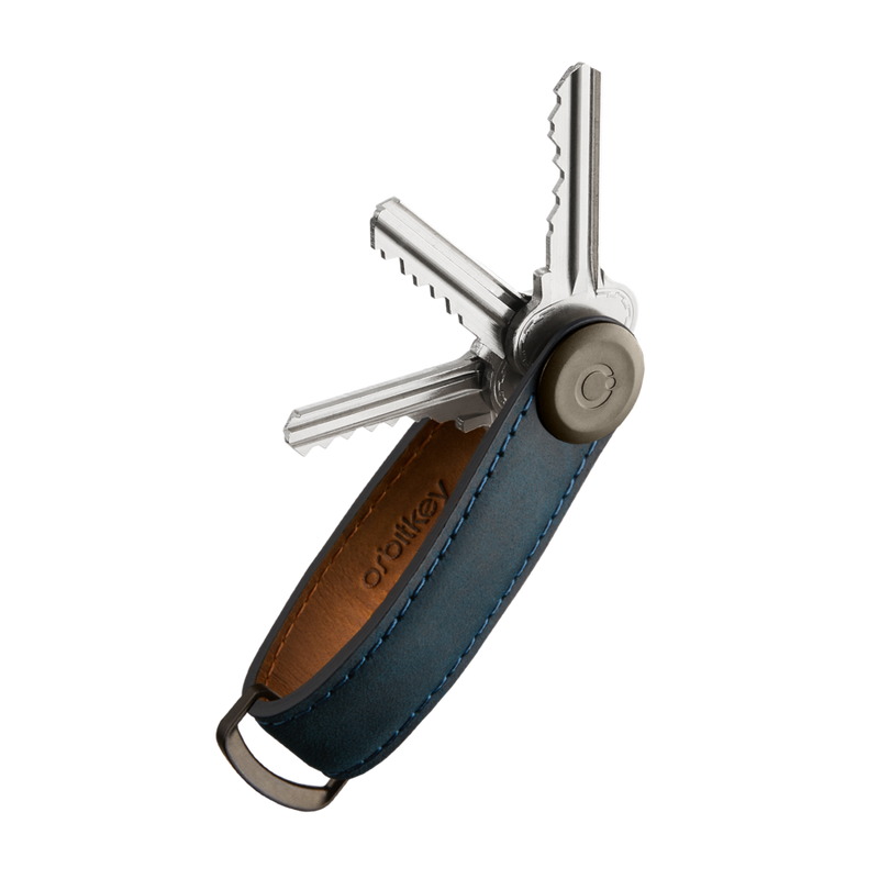 Orbitkey Crazy Horse Leather Marine Blue