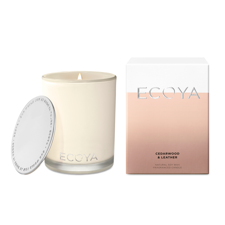 Ecoya Madison Candle (400gm) - Cedarwood & Leather