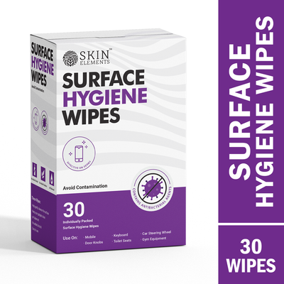 Skin Elements Surface Hygiene Wipes For Clean Mobiles, Door Knobs, Keyboards, etc. (Pack of 30)