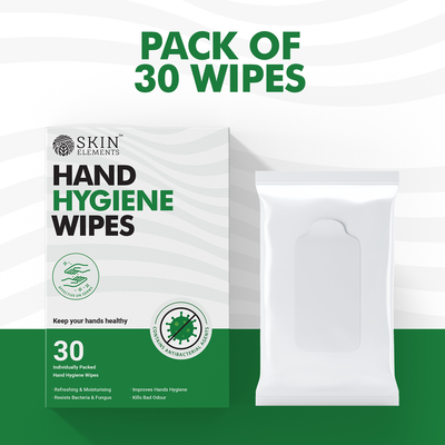 Skin Elements Hand Hygiene Wipes With Aloe Vera Avoids Bacterial & Fungal Infections (Pack of 30)