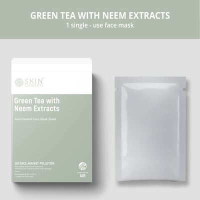 Skin Elements Pollution Shield Face Mask Sheets With Green Tea & Neem (6 Masks)