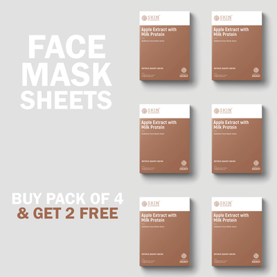 Skin Elements Anti-Ageing Face Mask Sheets With Apple Extracts & Milk Protein (6 Masks)