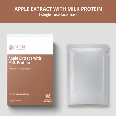 Face Mask Sheets Apple Extracts & Milk Protein (6 masks)- Anti-Ageing
