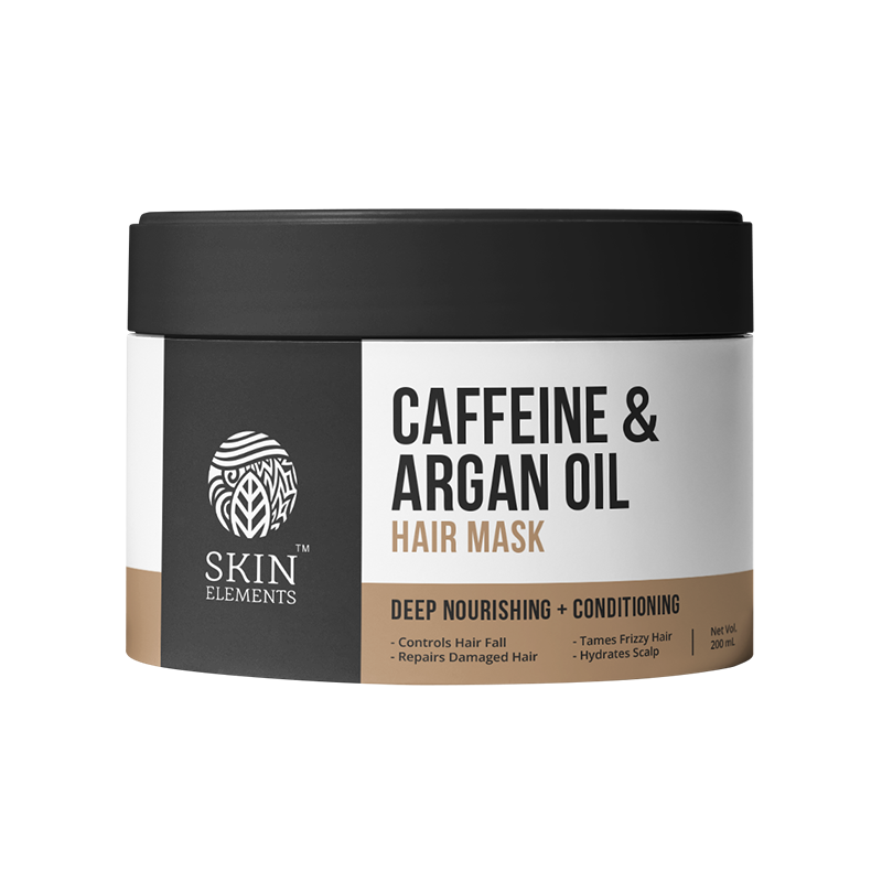 Skin Elements Caffeine & Argan Hair Mask For Damage Control (200ml)