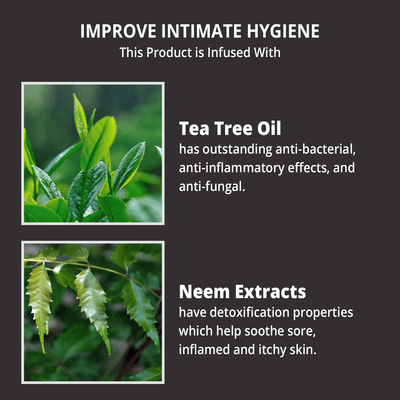 Intimate Hygiene Wipes with Tea Tree Oil & Neem Extracts
