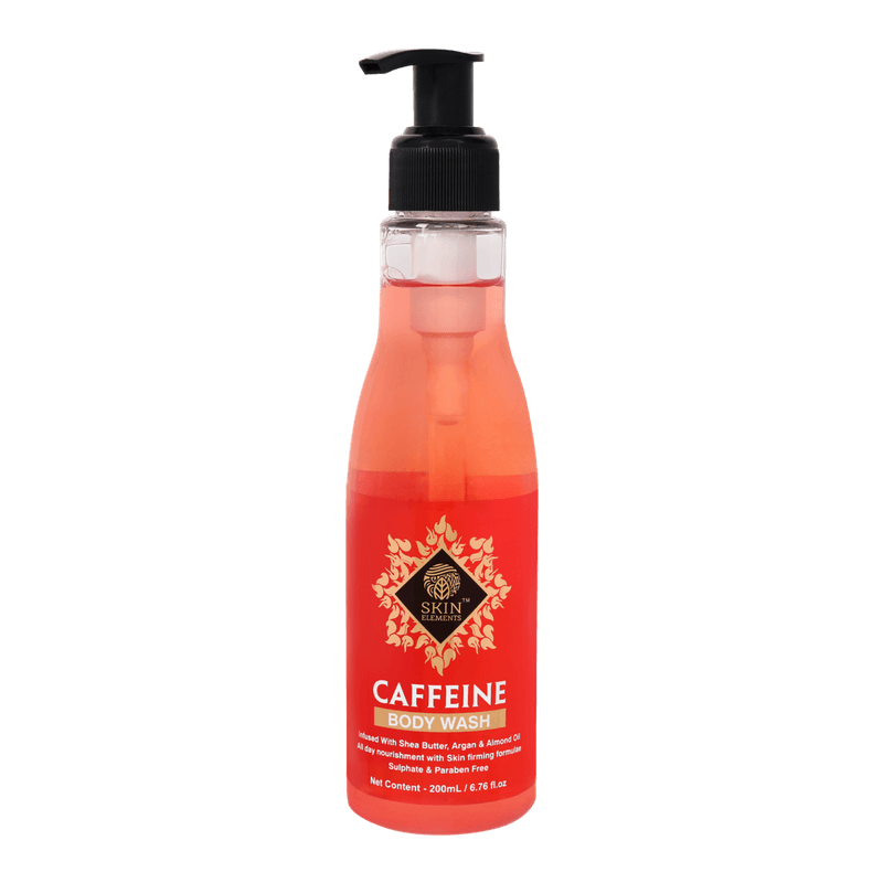 Skin Elements Energizing Caffeine Body Wash With Shea Butter, Almond & Argan Oil (200ml)