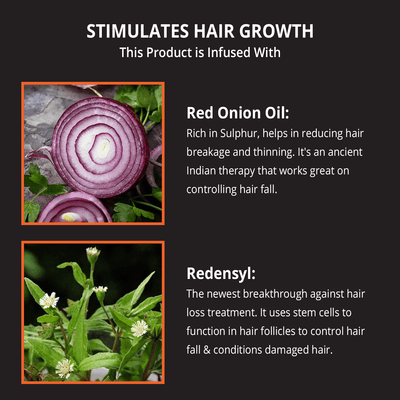 Skin Elements Hair Oil with Onion, Redensyl & Bhringraj Extracts