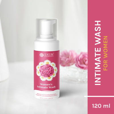 Skin Elements Intimate Wash for Women with Rose Water, Chamomile, Calendula & Aloe Vera Extracts