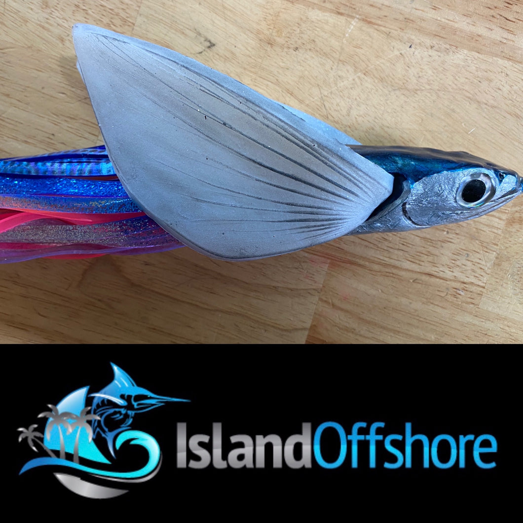 "NEW Da Big Malolo 12"" fishhead Niiyama with silicon wings Skirted"
