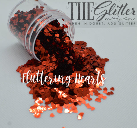 Fluttering Hearts - Heart Shaped Glitter