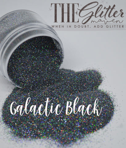 Galactic Black Holographic Glitter