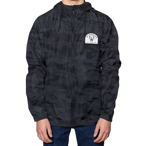 Filthy Fishermen Windbreaker Jacket | Black Camouflage