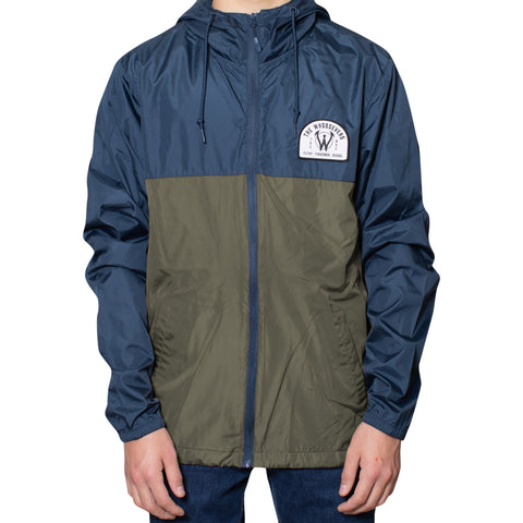 Filthy Fishermen Windbreaker Jacket | Navy Olive