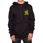 Knife Zip-Up Hooded Sweatshirt | Black