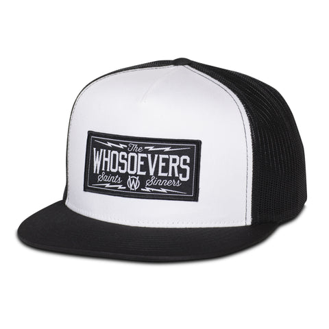 Saints & Sinners Trucker Hat | White/Black