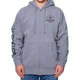 Arched Zip-Up Hooded Sweatshirt | Gunmetal Heather
