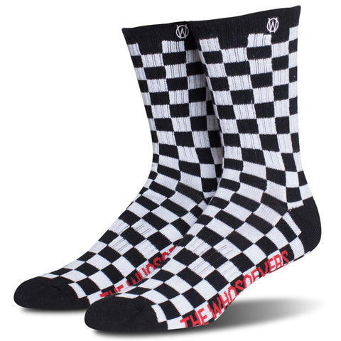 Checkered Crew Sock | Black/White