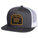 Crown Trucker Hat | Charcoal/White
