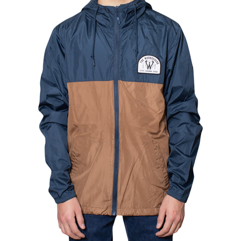 Filthy Fishermen Windbreaker Jacket | Navy/Saddle