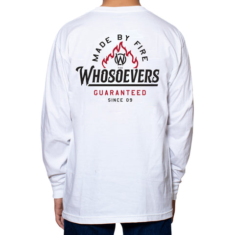Made By Fire Premium Long Sleeve T-Shirt | White