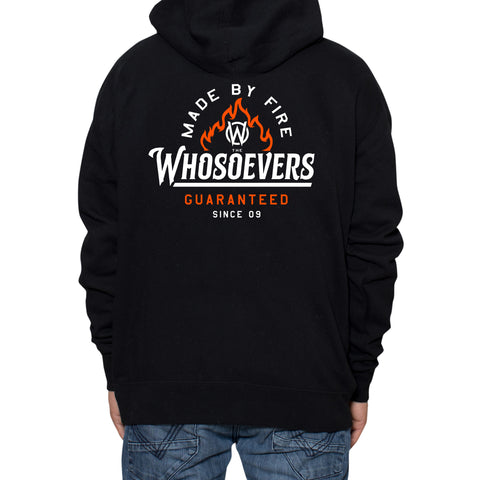 Made By Fire Zip-Up Hooded Sweatshirt | Black