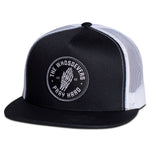 Pray Hard Trucker Hat | Black/White