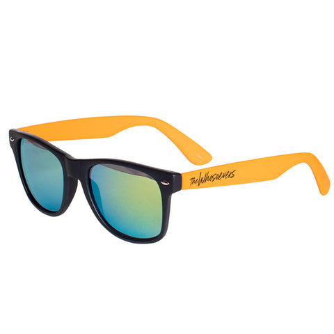 W Script Sunglasses | Black/Orange