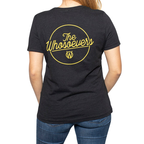 Womens Written Tee | Black Heather
