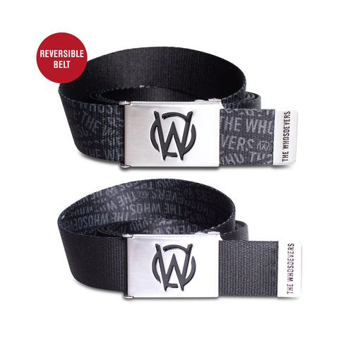 W Icon Reversible Boy Scout Belt | Black/Cool Grey