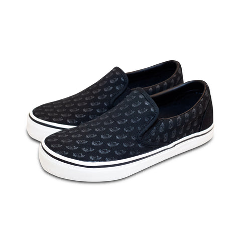 Pray Hard Slip-On Shoe | Black