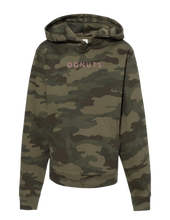 "Load image into Gallery viewer, ""DONUTS""  Hoodie, Camo, Kids"
