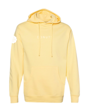 "Load image into Gallery viewer, ""DONUTS"" Hoodie, Butter, Adult"