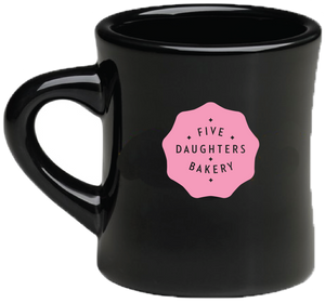 Mug - Five Daughters Bakery - Black