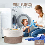 Piper and Olive Woven Laundry Basket