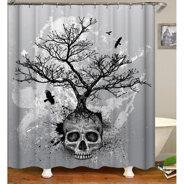 W180xH200cm 3D Skull Shower Curtains In Different Sizes