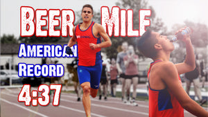 Chris Robertson Breaks Own Beer Mile American Record (4:37) in World Record Attempt