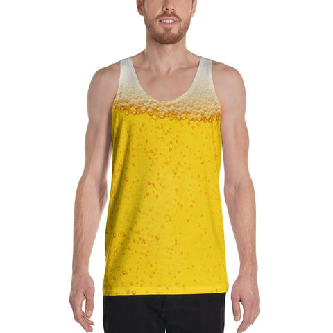 Beer All Over Tank Top - Beer Drinking Tank