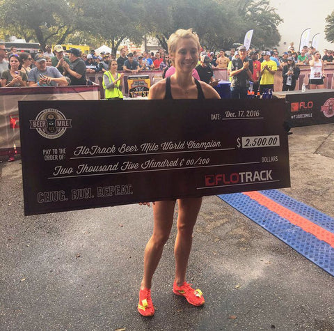 Caitlin Judd Batten wins Flotrack Beer Mile