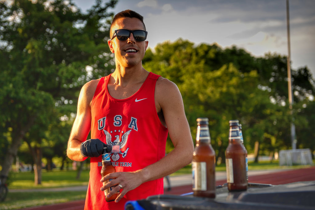 Chris Robertson USA Beer Mile American Record