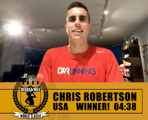 Chris Robertson 2020 Beer Mile World Champion