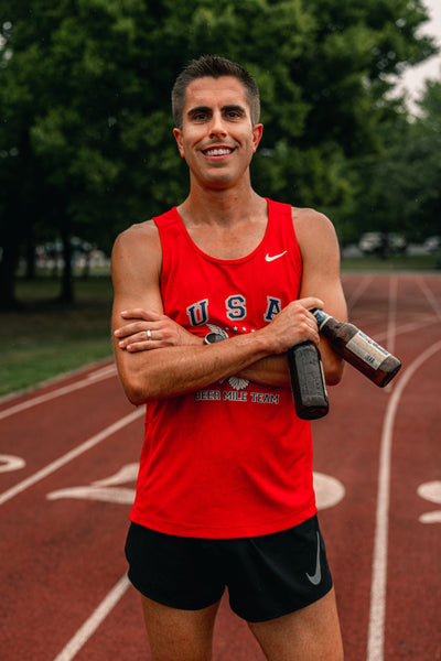 Chris Robertson Beer Mile American Record Team USA