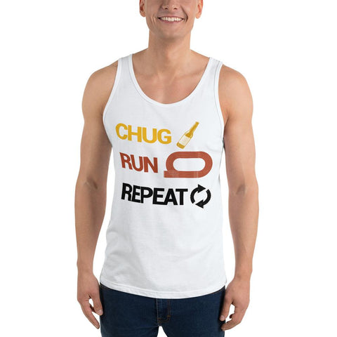 Chug Run Repeat Beer Mile Tank