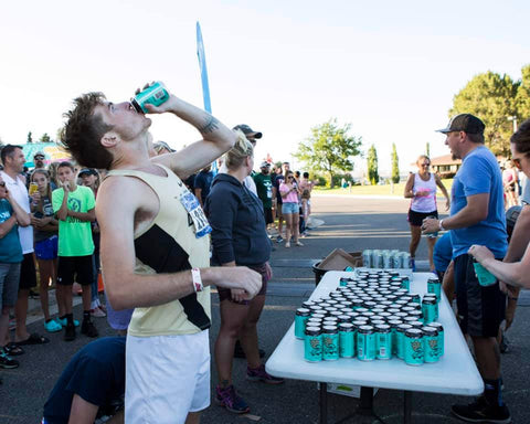 Cody Beer Mile Chug Zone