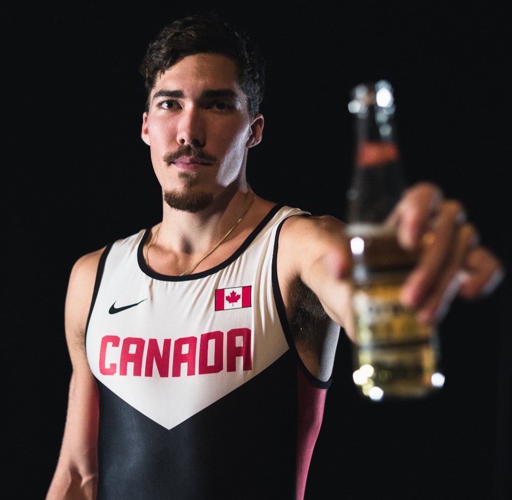 Corey Bellemore Canada Beer Mile Team