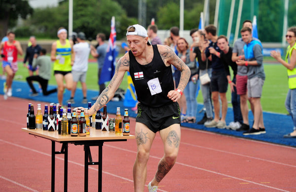 Dale King Clutterbuck England Beer Mile
