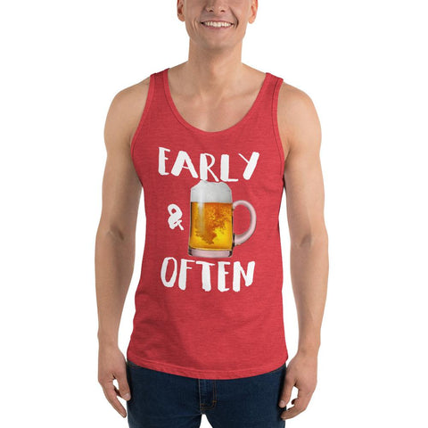 Early and Often Beer Drinking Tank Top